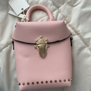Mini pink and gold purse